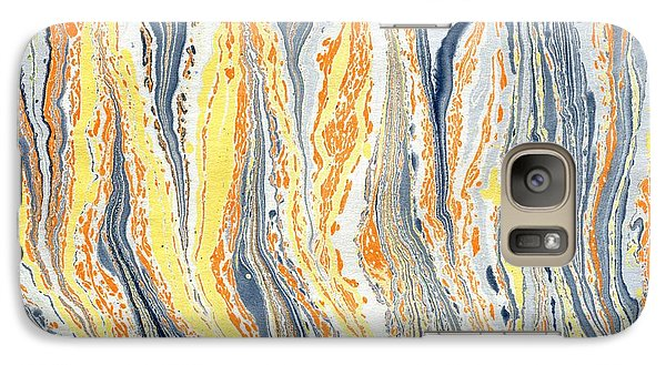 Galaxy Case featuring the painting Flames by Menega Sabidussi