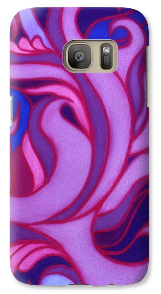 Galaxy Case featuring the pastel Flames by Susan Will