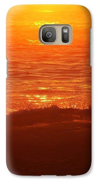 Galaxy Case featuring the photograph Flames With No Horizon by Amy Gallagher