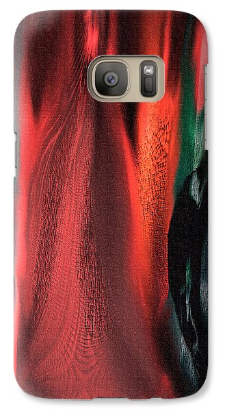 Galaxy Case featuring the painting Flames by Yul Olaivar