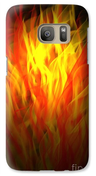 Galaxy Case featuring the digital art Flaming Fire by Gayle Price Thomas