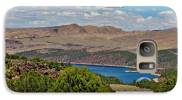 Galaxy Case featuring the photograph Flaming Gorge by Janice Rae Pariza