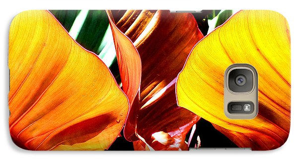 Galaxy Case featuring the photograph Flaming Plant by Kristine Merc