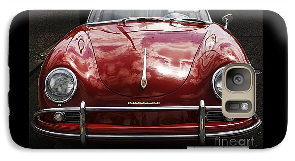 Galaxy Case featuring the photograph Flaming Red Porsche by Victoria Harrington