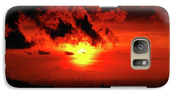 Flaming Sunset Galaxy S7 Case