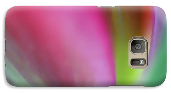 Galaxy Case featuring the photograph Flaming Tulip by Annie Snel