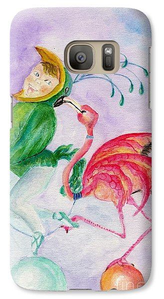 Galaxy Case featuring the painting Flamingo Circus by Tamyra Crossley