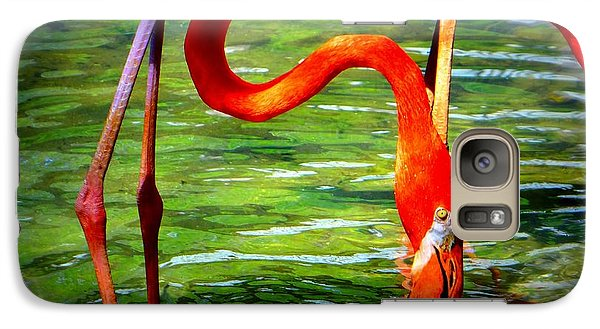Galaxy Case featuring the photograph Flamingo by David Mckinney