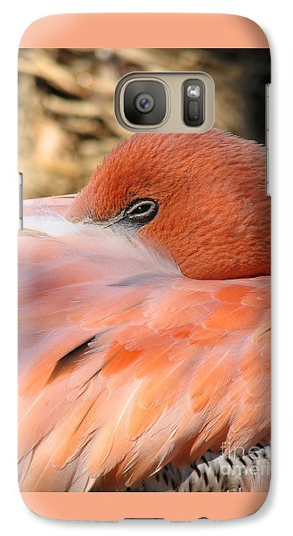 Galaxy Case featuring the photograph Flamingo by Eva Kaufman