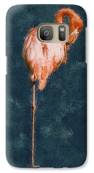Spoonbill Galaxy S7 Case - Flamingo - Happened At The Zoo by Jack Zulli