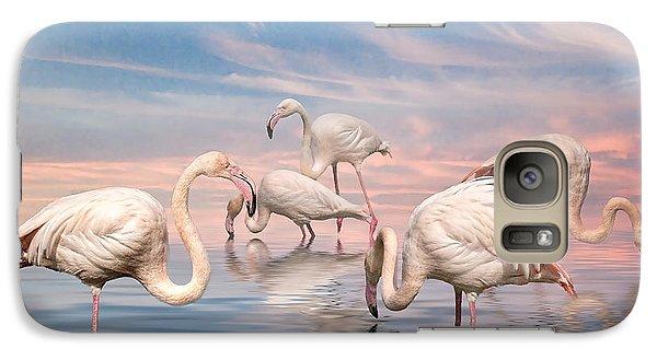 Galaxy Case featuring the photograph Flamingo Lagoon by Brian Tarr