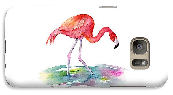 Flamingo Step Galaxy S7 Case by Amy Kirkpatrick