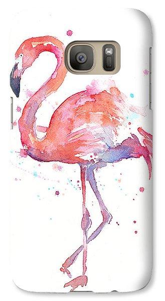 Flamingo Watercolor Galaxy S7 Case