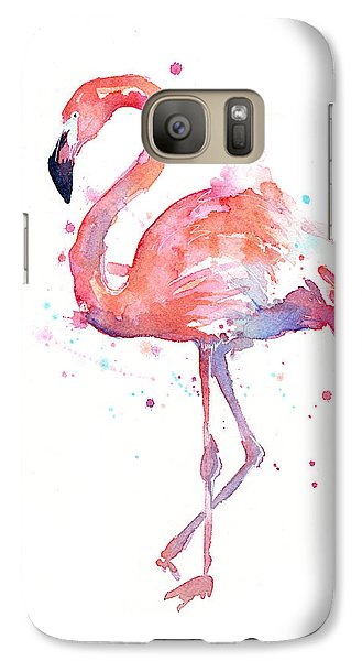 Flamingo Watercolor Galaxy S7 Case