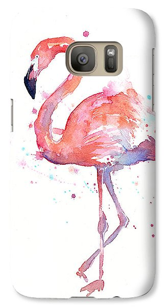 Galaxy S7 Case - Flamingo Watercolor by Olga Shvartsur