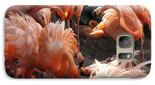 Galaxy Case featuring the photograph Flamingos by Beth Vincent