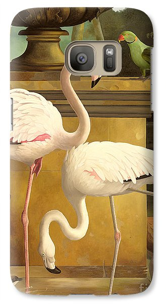 Parakeet Galaxy S7 Case - Flamingos by Lizzie Riches