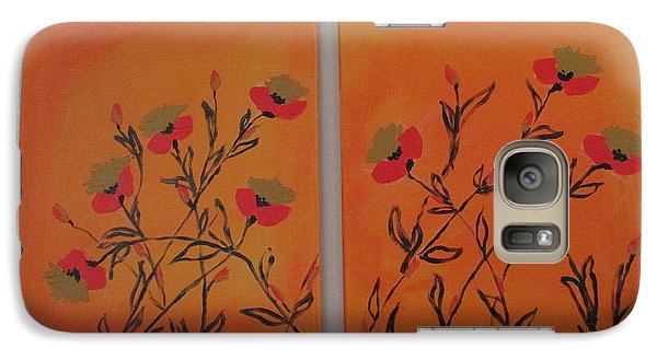 Galaxy Case featuring the painting Flanders Poppies by Sharyn Winters
