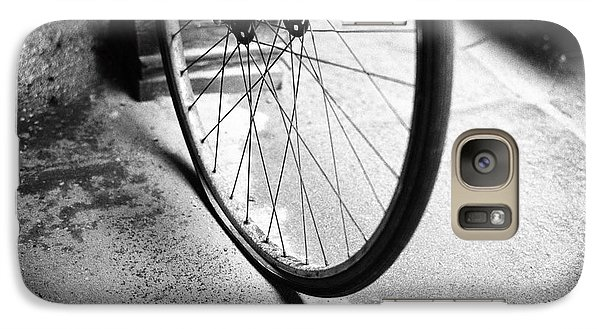 Galaxy Case featuring the photograph Flat Bicycle Tire by Dave Beckerman