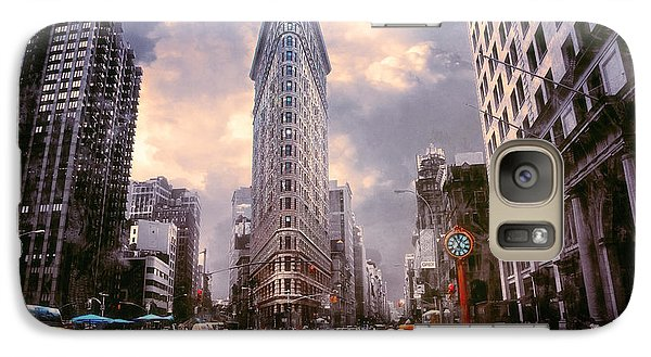 Galaxy Case featuring the photograph Flatiron Building by John Rivera