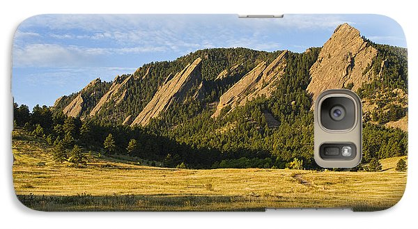 Flatirons From Chautauqua Park Galaxy S7 Case by James BO  Insogna