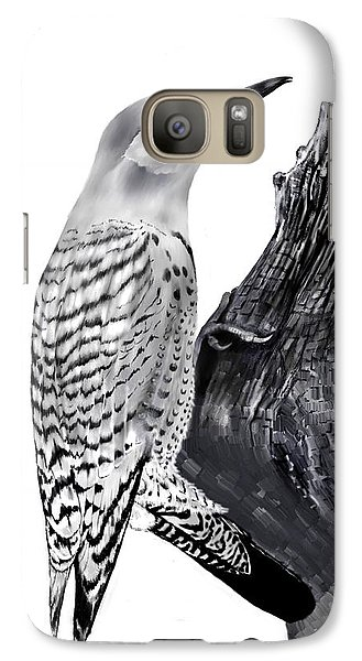 Galaxy Case featuring the drawing Flicker by Terry Frederick