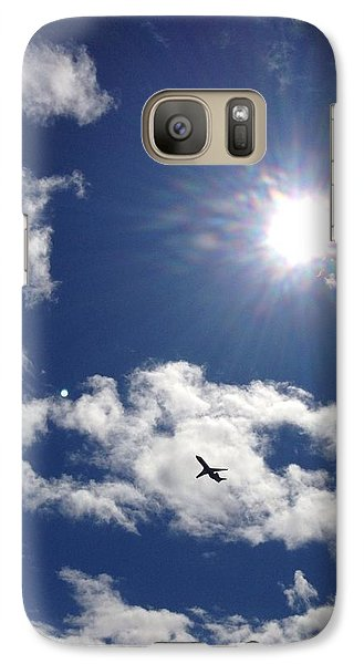 Galaxy Case featuring the photograph Flight In The Clouds by Nikki McInnes