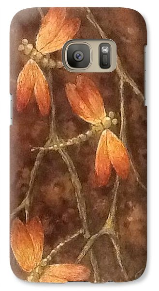 Galaxy Case featuring the painting Flight Of The Dragons by Megan Walsh