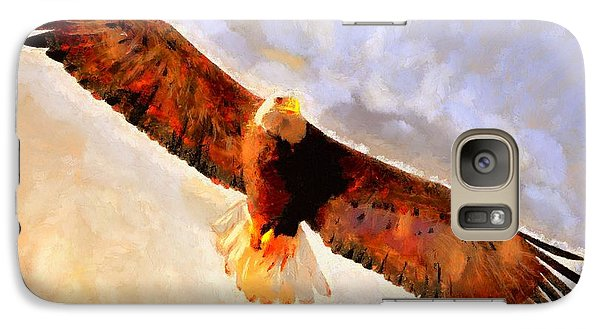 Galaxy Case featuring the painting Flight Of The Eagle by Wayne Pascall