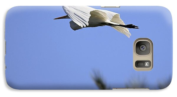 Galaxy Case featuring the photograph Flight Of The Egret by Penny Meyers
