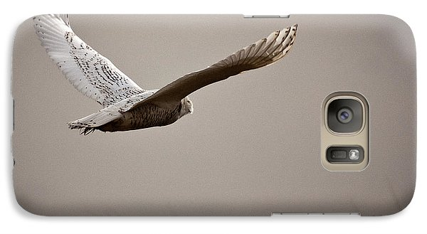 Galaxy Case featuring the photograph Flight Of The Snowy Owl by Erin Kohlenberg