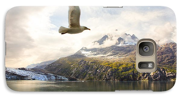 Galaxy Case featuring the photograph Flight Over Glacier Bay by Janis Knight