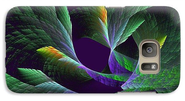 Galaxy Case featuring the digital art Flights Of Fancy Vii Birds Of Paradise by Linda Whiteside