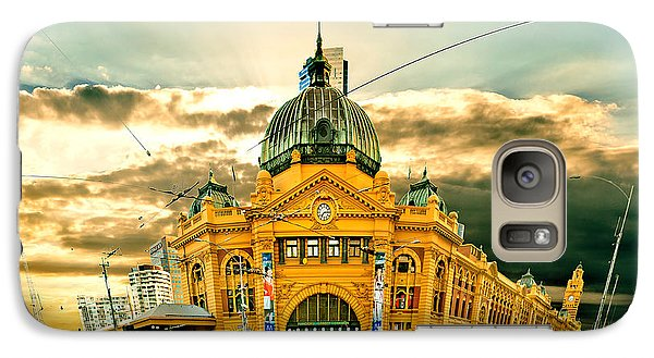 Flinders St Station Galaxy Case by Az Jackson