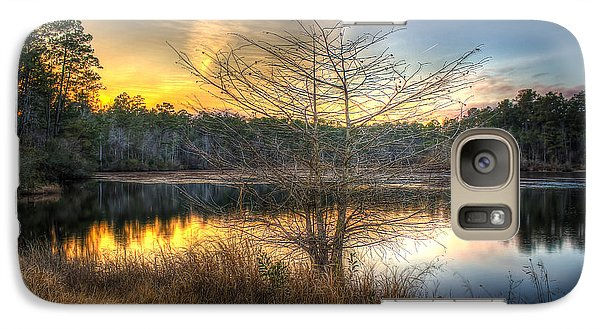 Galaxy Case featuring the photograph Flint Creek Sundown by Maddalena McDonald
