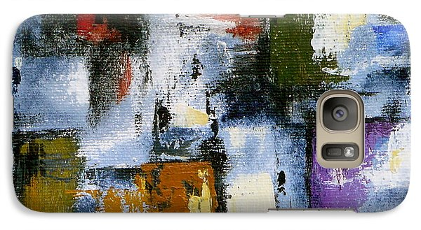 Galaxy Case featuring the painting Flint by Jo Appleby