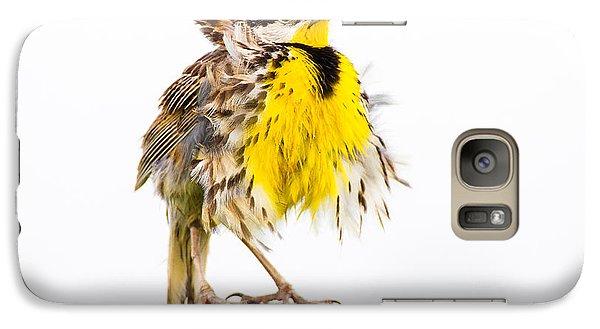 Flluffy Meadowlark Galaxy Case by Bill Swindaman