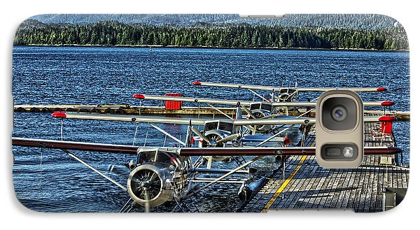 Galaxy Case featuring the photograph Float Plane Dock by Timothy Latta