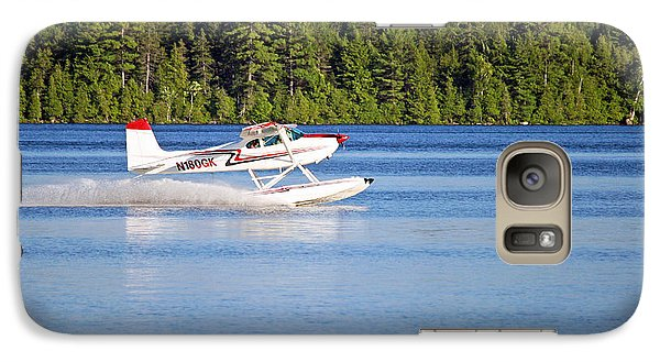 Galaxy Case featuring the photograph Float Plane Landing On The Lake by Barbara West