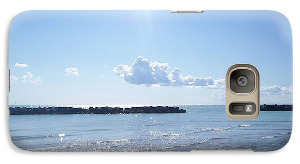 Galaxy Case featuring the photograph Floating Clouds by Ramona Matei