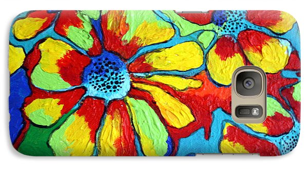 Galaxy Case featuring the painting Floating Flowers by Alison Caltrider