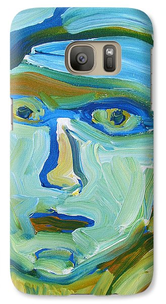 Galaxy Case featuring the painting Floating Head by Shea Holliman