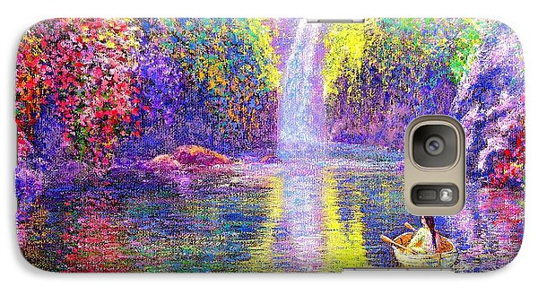 Galaxy Case featuring the painting Floating by Jane Small
