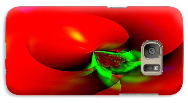 Galaxy Case featuring the digital art Floating Tomato by Hai Pham