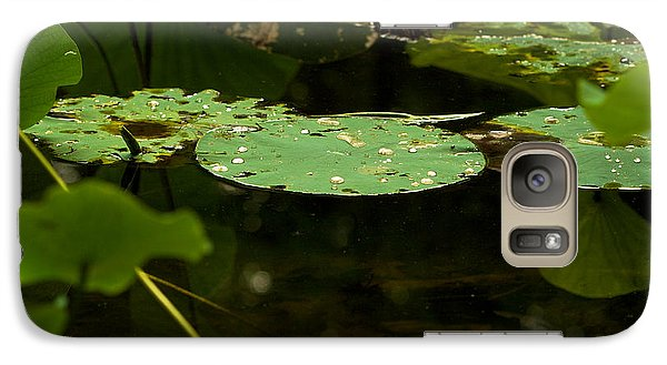Galaxy Case featuring the photograph Floating World 1 - Lily Pads  by Jane Eleanor Nicholas