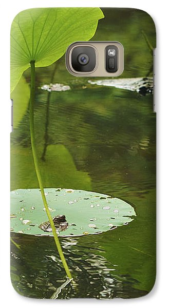 Galaxy Case featuring the photograph Floating World #2 - Lotus Leaves Art Print by Jane Eleanor Nicholas
