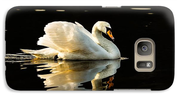 Galaxy Case featuring the photograph Floats On Peaceful Water by Rose-Maries Pictures