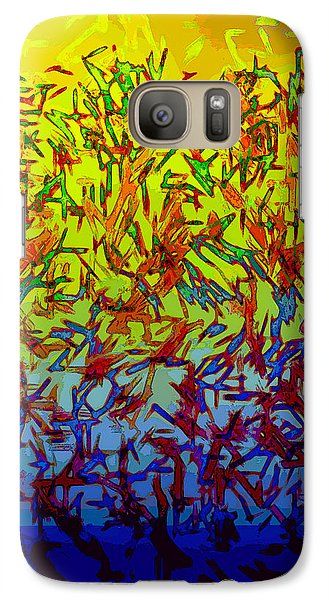 Galaxy Case featuring the digital art Flock by Matt Lindley