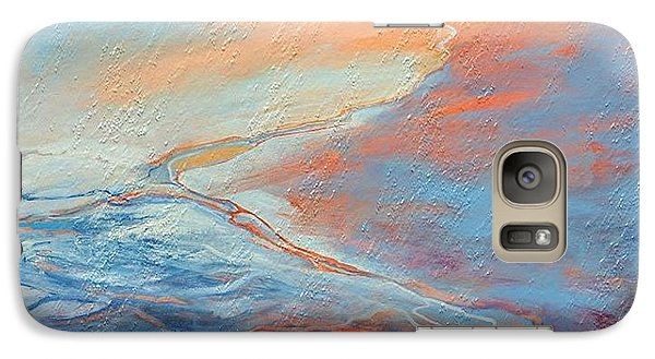 Galaxy Case featuring the painting Flood by Elizabeth Coats