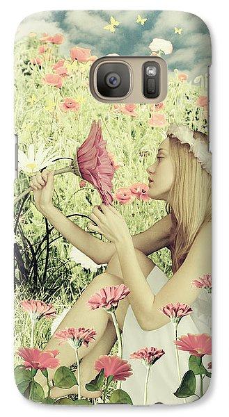 Flora Galaxy S7 Case by Linda Lees